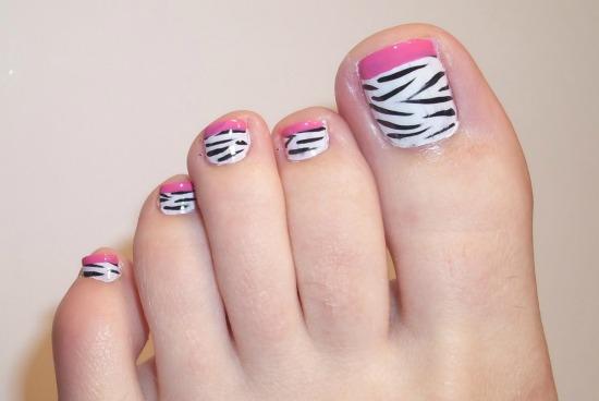Animal Print Toe Nail Art
