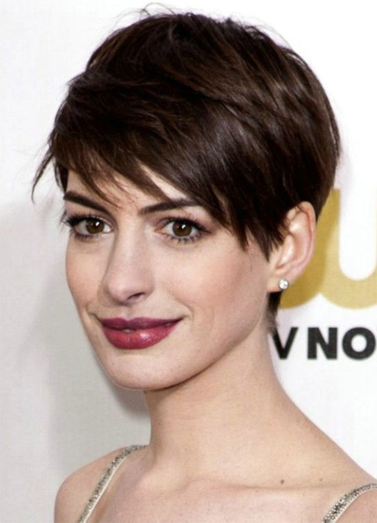 Anne Hathaway Pixie Hairstyles For Thick Hair