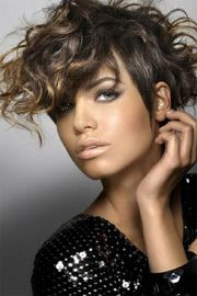 charming pixie cut curly