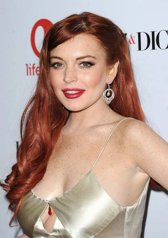 Lindsay Lohan Long Red Curly Hair