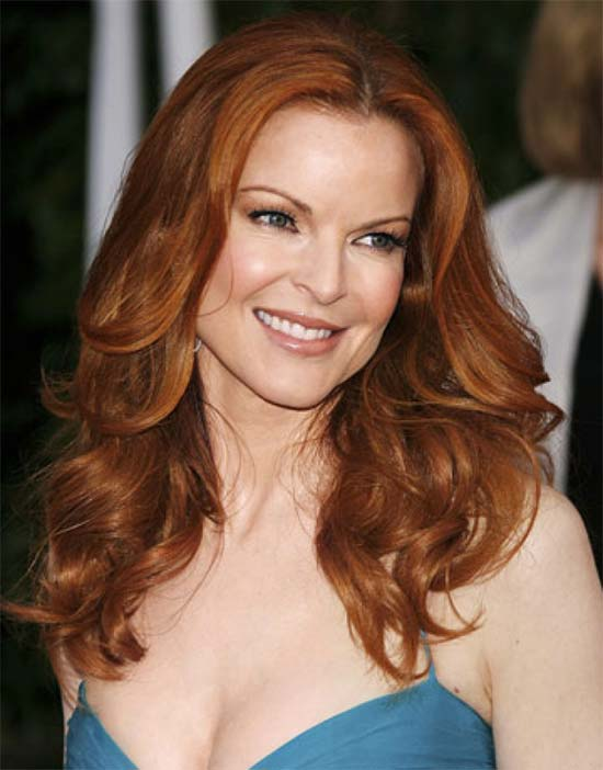Marcia-Cross Red Curly Hair