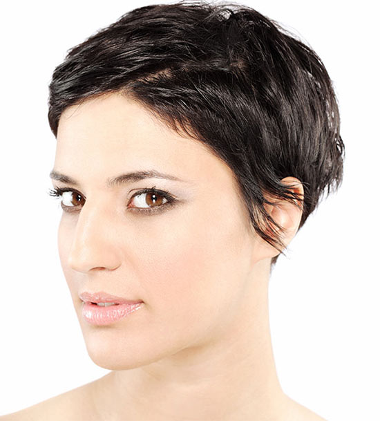 Rose Mcgowan pixie hairstyle with thick hair