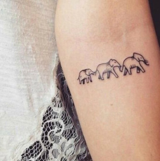 Cute Small Sister Tattoo