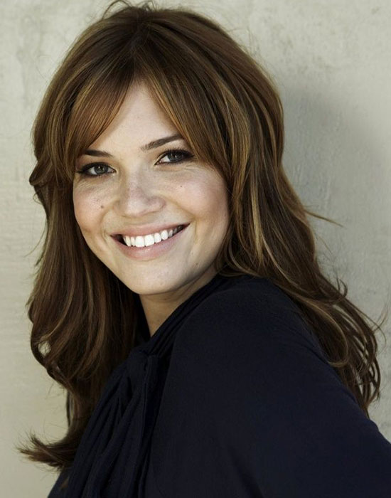 Mandy Moore thick Hairstyles With Bangs