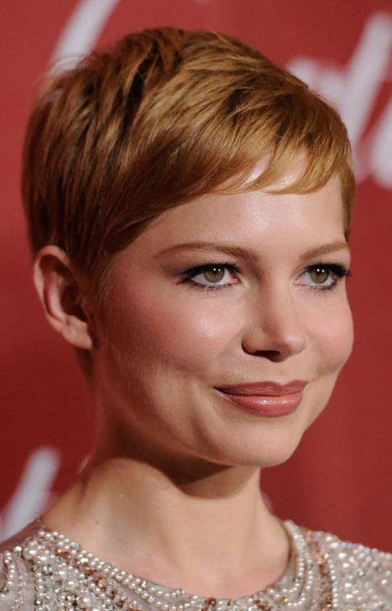 Michelle Williams Bob Hairstyles Layered-Short-Straight-Haircut-with-Bangs