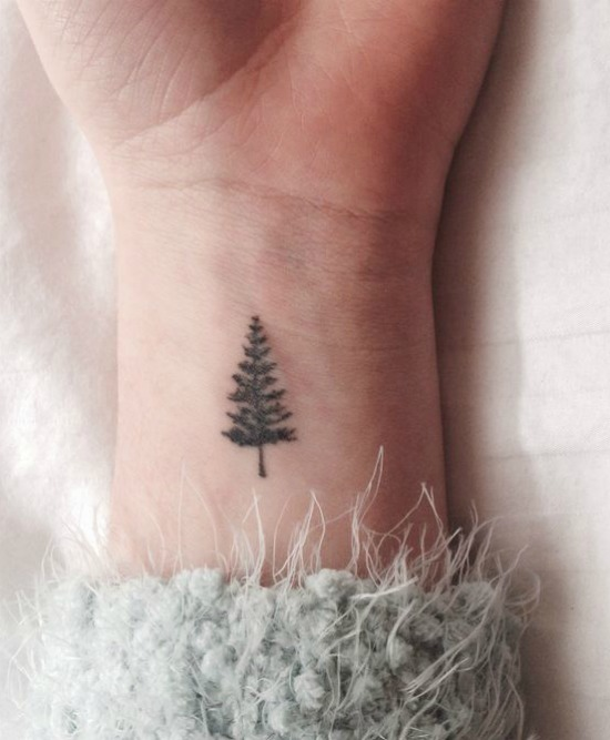 Small Pine Tree Tattoo