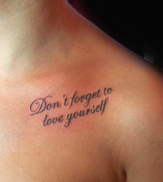 don't forget to love yourself
