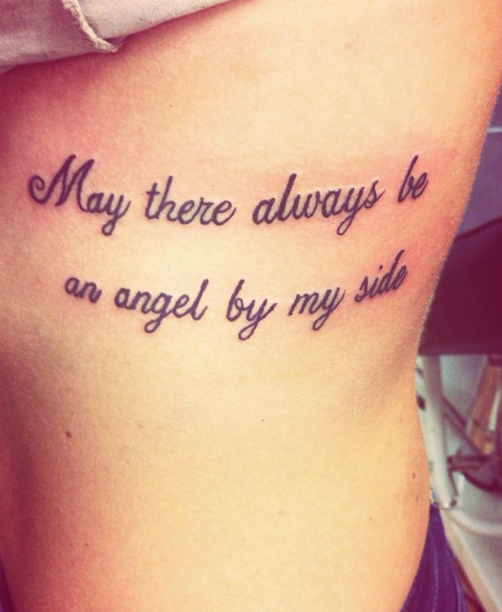 may there always be an angel by my side tattoo