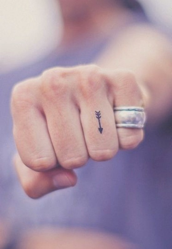 small arrow tattoo