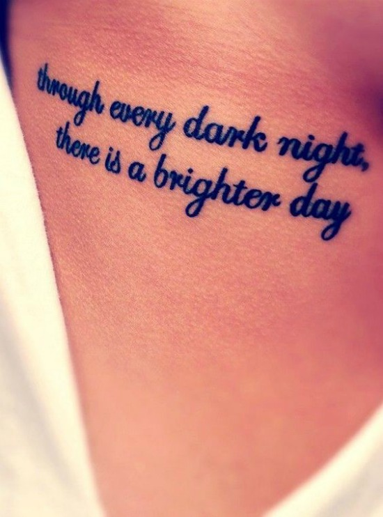 through every dark night there's a brighter day