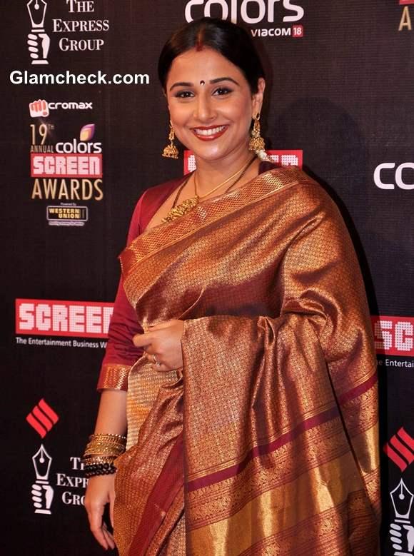 vidya-balan-in-kanjeevaram-at-the-19th-annual-colors-screen-awards