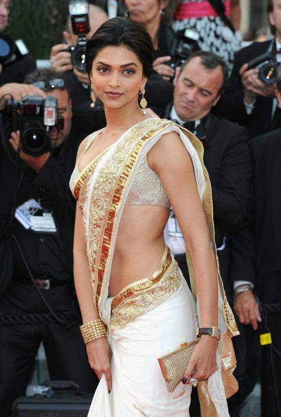Deepika Padukone In Rohit Bhal Saree At Cannes