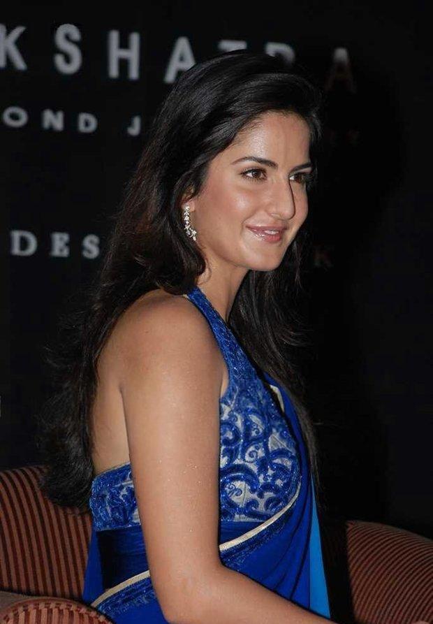 Katrina kaif In Blue Saree