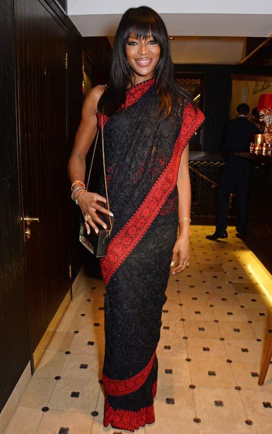 Naomi Campbell in Saree