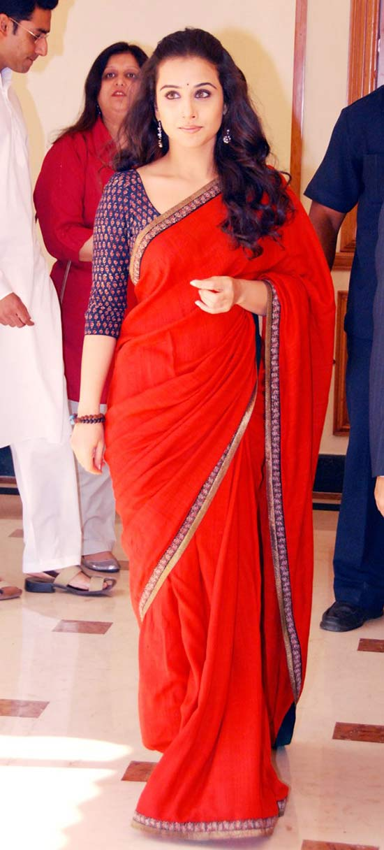 Vidya Balan in red saree