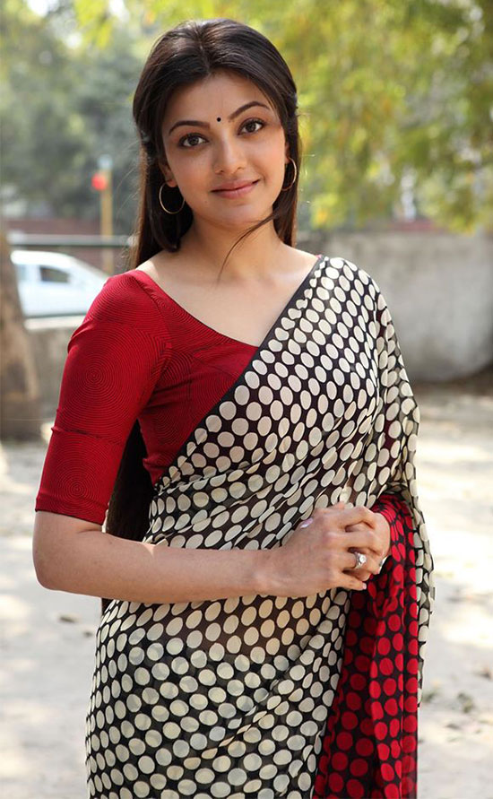 kajal agarwal in multi color saree