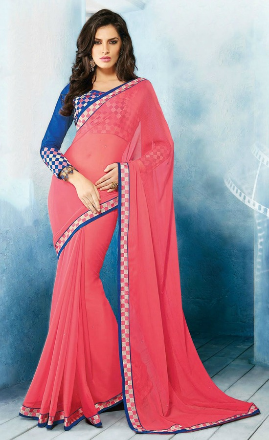 Terrific Pink Heropanti Kriti Sanon Saree