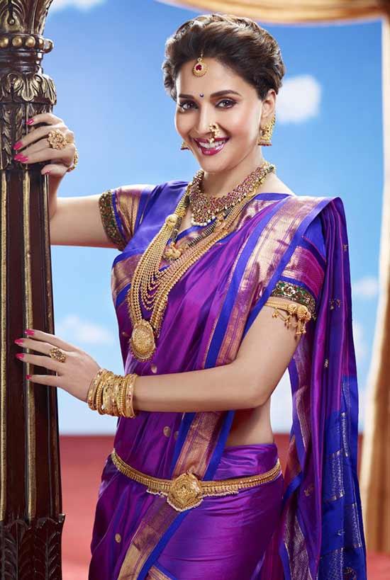 MadhuriDixit as a Maharashtrian Bride In Nauvari Saree