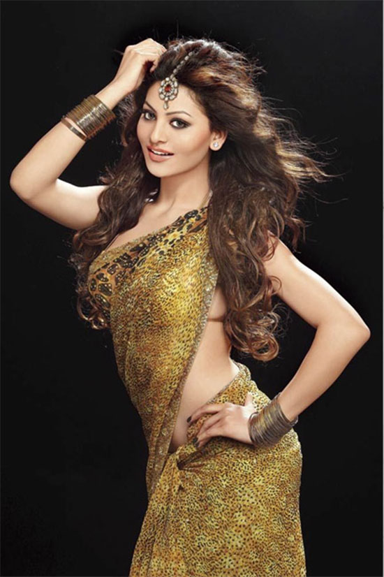 Urvashi Rautela In Printed Silk Saree