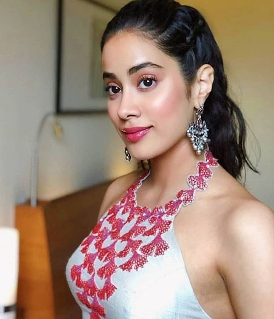 Janhvi Kapoor in Manish Malhotra Net Embroidered Gown
