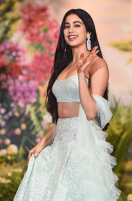 Janhvi Kapoor in White Lehenga Choli