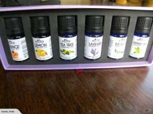 6 Essential Oils Box open