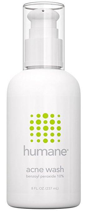 Humane acne wash - Try Benozyl peroxide for acne
