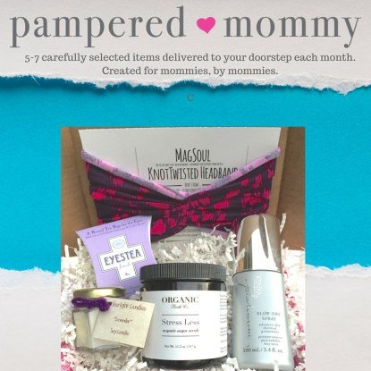 pampered mommy subscription box for moms organic subscription box - best subscription boxes - cruelty-free beauty box subscriptions - vegan beauty box - vegan subscription box - unboxing subscription box review | beautyiscrueltyfree.com