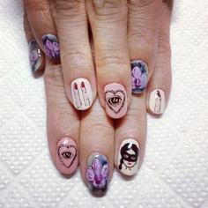 Japanese nail art by Disco Nails...