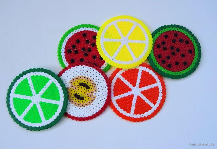 DIY Pearler Beads fruits Bügelperlen