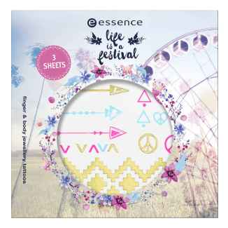 "essence ""life is a festival"" - finger and body jewellery tattoos"