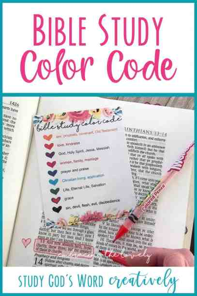 Bible Study Color Code