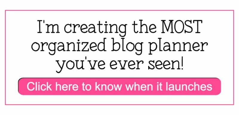 Blog Planner Sign Up Button