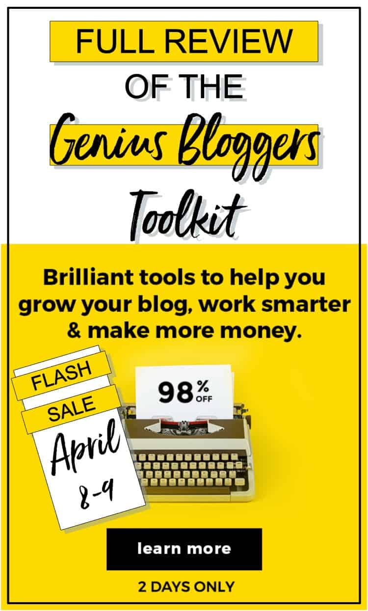 Full review of the Genius Bloggers Toolkit FLASH SALE