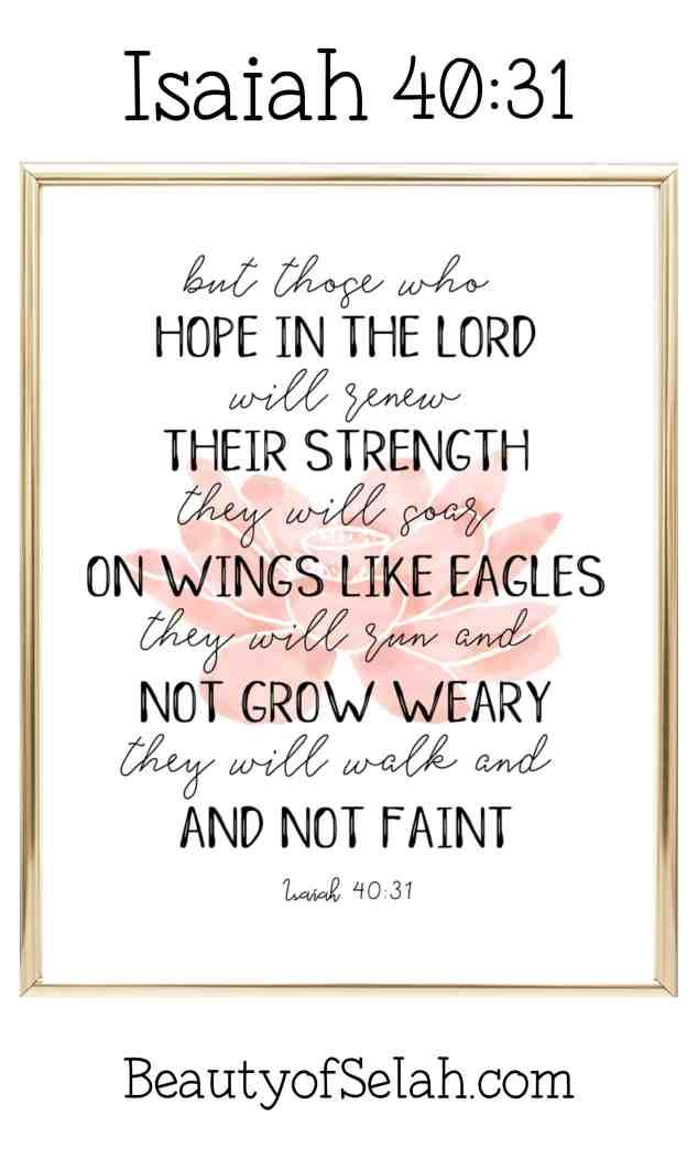 Isaiah 40.31 Free Printable
