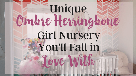 Unique Ombre Herringbone Girl Nursery you'll fall in love with