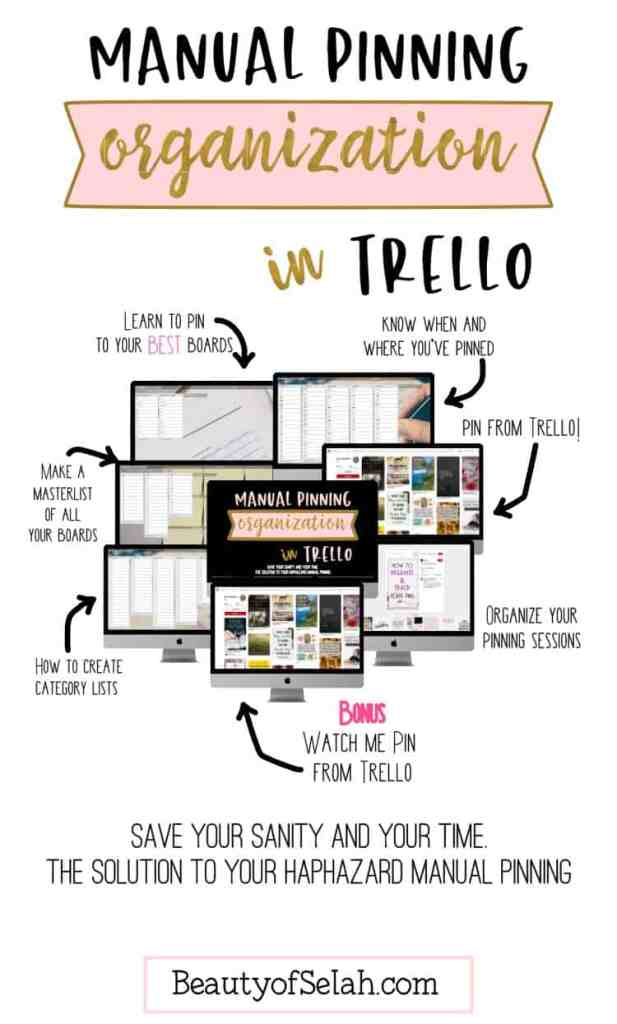 manual pinning organization in trello course #blogging #howtoblog #organization