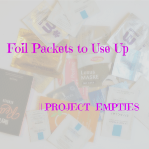 Foil packets to use up