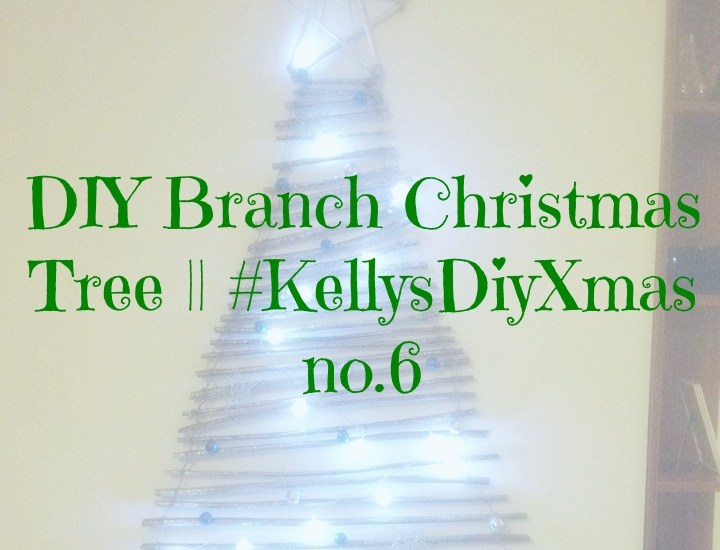 DIY Branch Christmas Tree || #KellysDiyXmas no.6