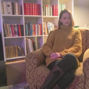Mustard Chunky Cable Knit Turtleneck Jumper Dress - Heidi