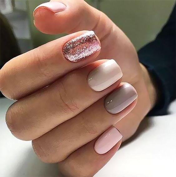 Unghii ROZ PAL - modele unghii cu gel superbe