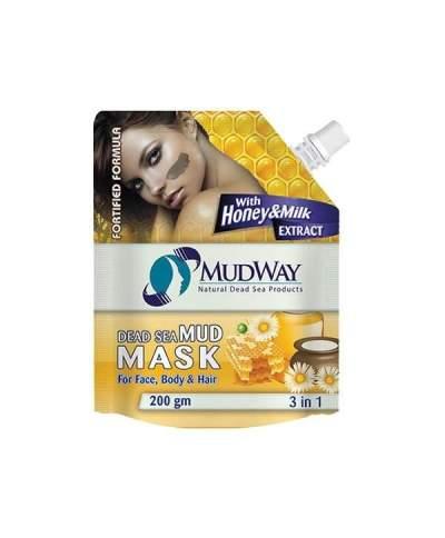 Masca din namol cu miere si lapte 3in1 200gm beauty secrets