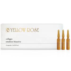 YELLOW ROSE <br/> Priešraukšlinė drėkinanti emulsija su liftingo efektu ir jūros kolagenu ampulėse – Collagen Emulsion Bioactive, 3ml x 12