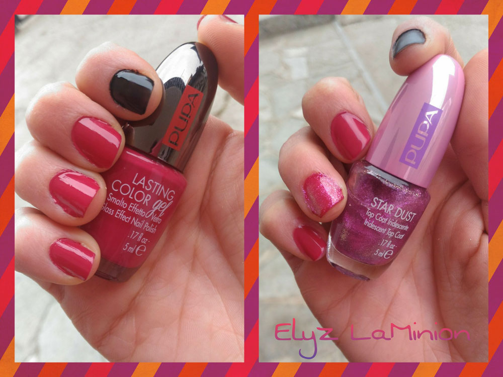 Smalto effetto gel 144 Forbidden  Star dust 002 Fuchsia di Pupa