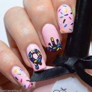 donuts nail art al cioccolato