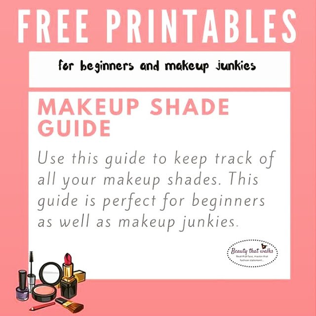 Keep Track of Makeup Shades using Printable Worksheets