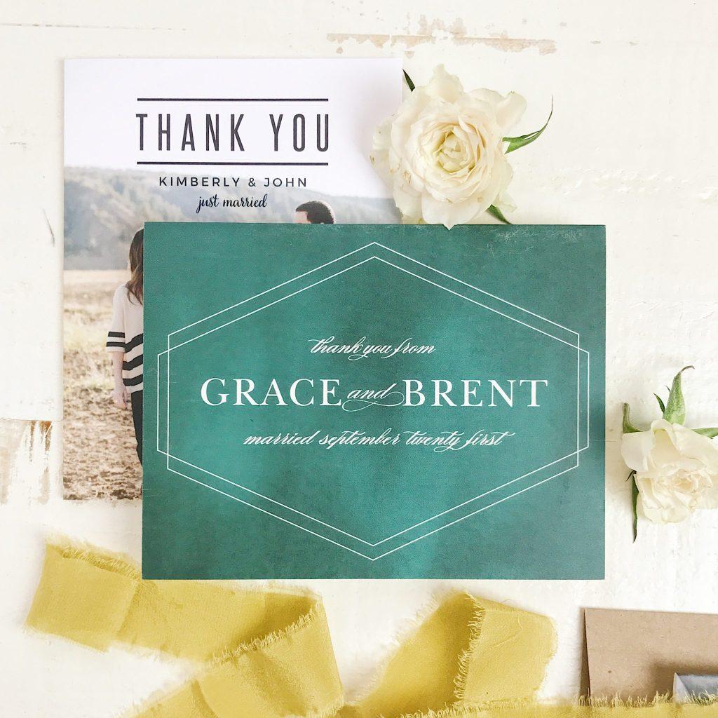 Basic Invite Thank You Cards Wedding