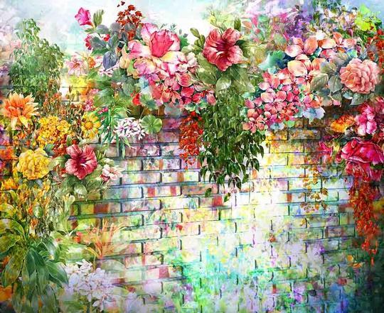 watercolors wedding backdrop