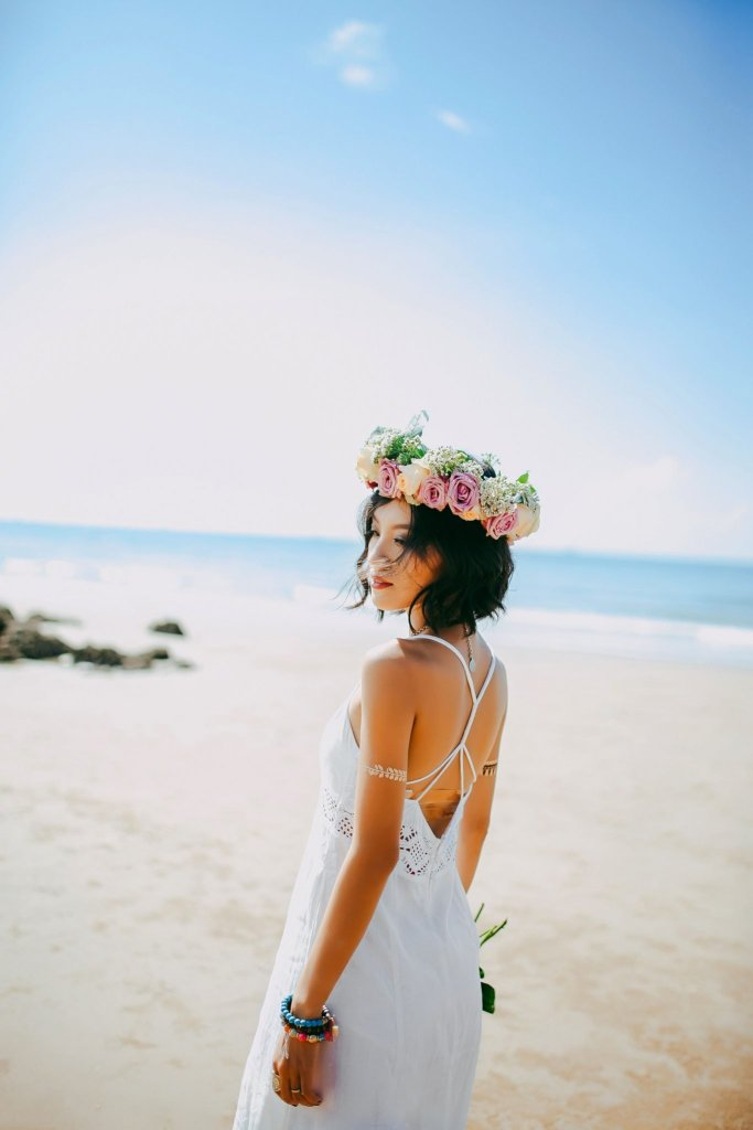 flower crown, boho wedding