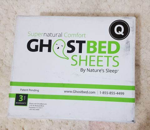 ghost bed sheets packaging